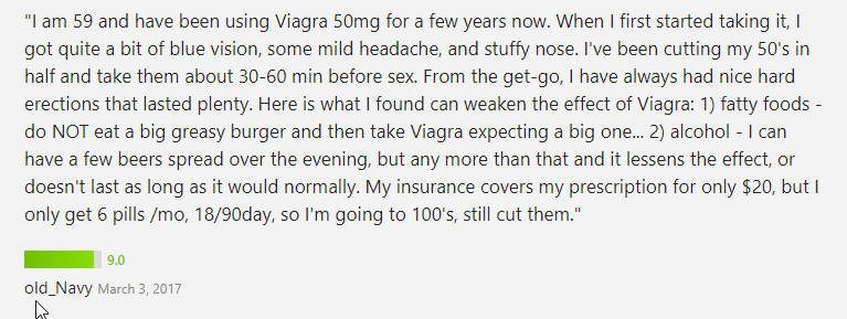 According to the Viagra user above, he confirms that the drug works completely in every way that he had expected